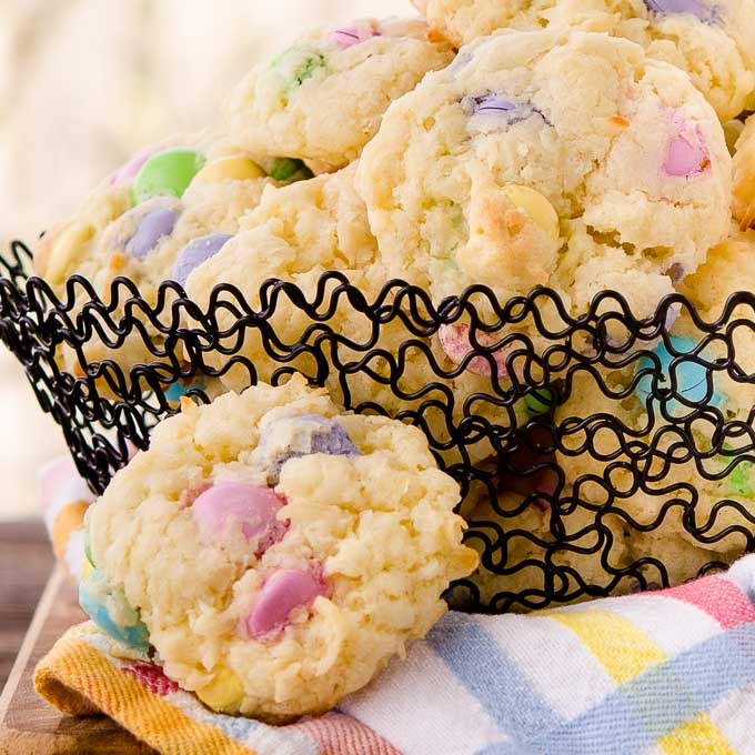 Chocolate Candy Coconut Cookies | Magnolia Days