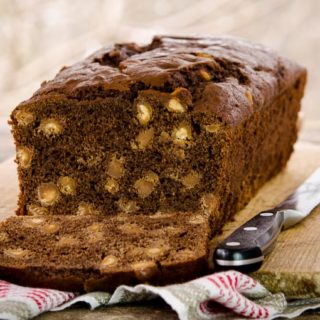 Chocolate Peanut Butter Chip Quick Bread for #BreadBakers