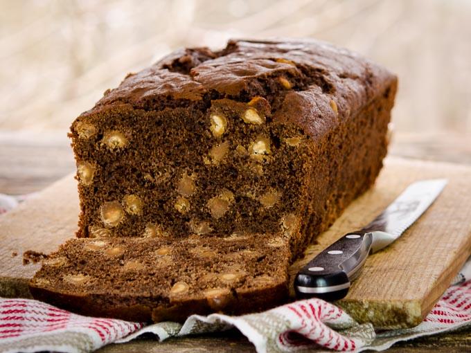 Chocolate Peanut Butter Chip Quick Bread | Magnolia Days