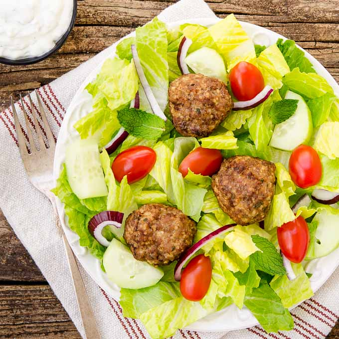 Greek Meatball Salad | Magnolia Days