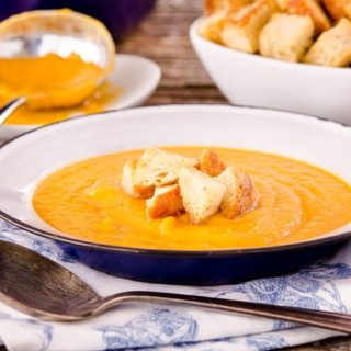 Roasted Sweet Potato Soup for #SundaySupper