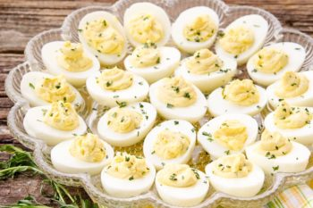 Tarragon Goat Cheese Deviled Eggs | Magnolia Days