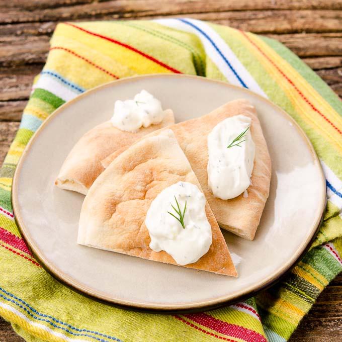 Tzatziki Sauce on Pita Bread | Magnolia Days