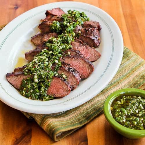 Grilled Flat Iron Steak with Chimichurri Sauce by Kayln's Kitchen