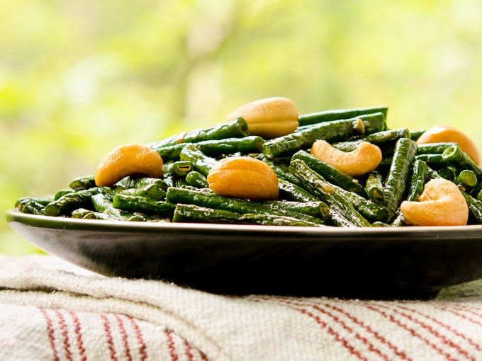 Chinese Long Beans with Cashews - Magnolia Days