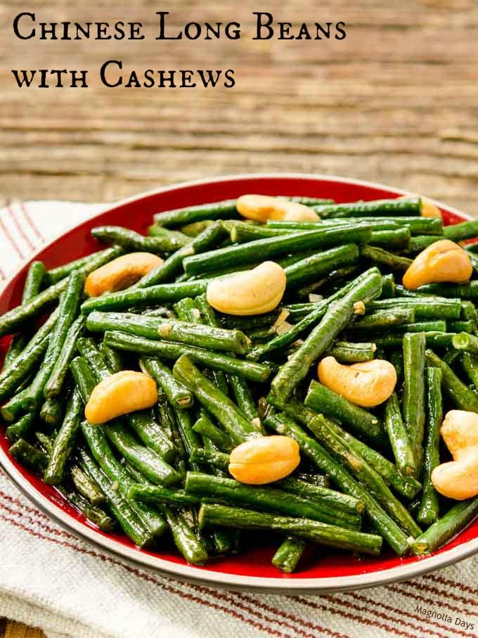 Chinese Long Beans with Cashews is a healthy stir-fry side dish with classic Chinese flavors. It's quick, easy, and a family favorite.