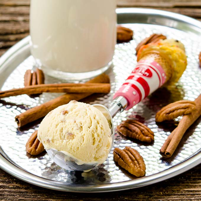 Cinnamon Butter Pecan Ice Cream | Magnolia Days