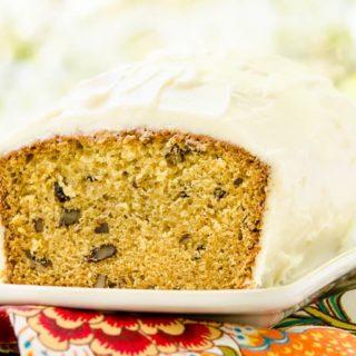 Golden Parsnip Loaf Cake