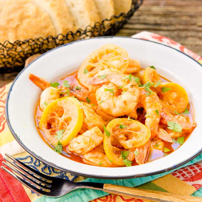 Lemony Barbecue Shrimp | Magnolia Days