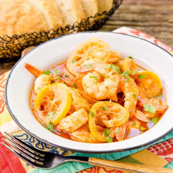 Lemony Barbecue Shrimp | Magnolia Days