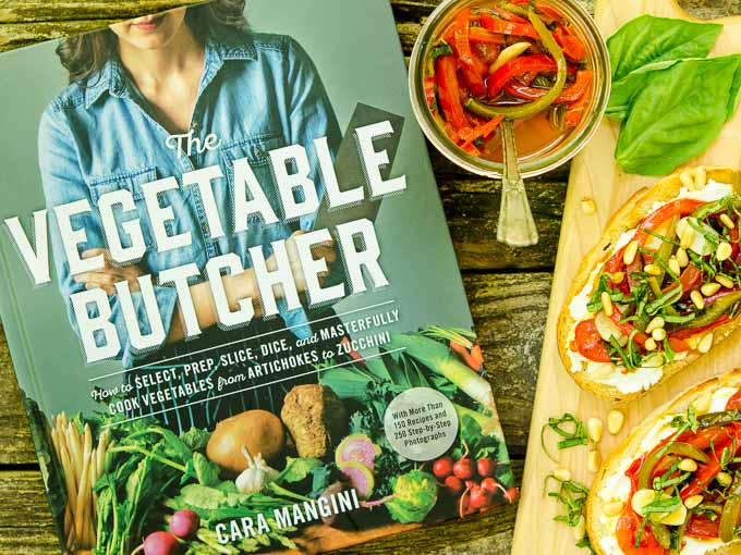 The Vegetable Butcher Cookbook plus Marinated Basil and Garlic Peppers on Goat Cheese Tartines | Magnolia Days