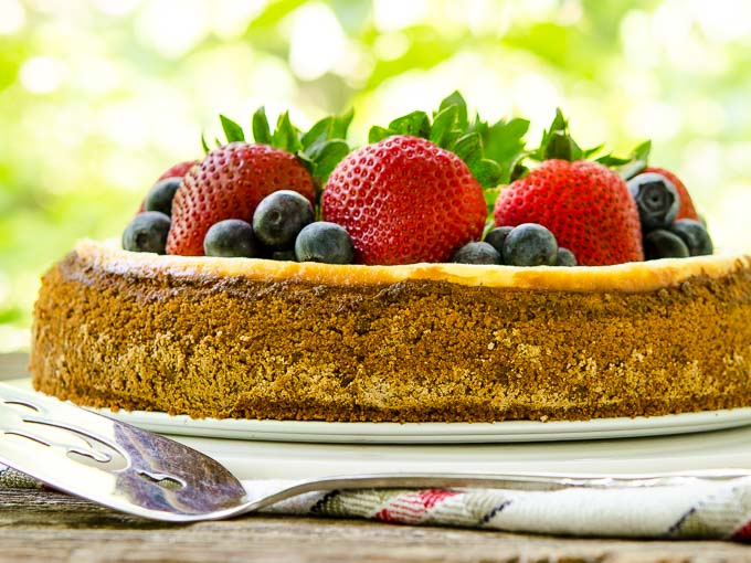 Sour Cream Cheesecake | Magnolia Days