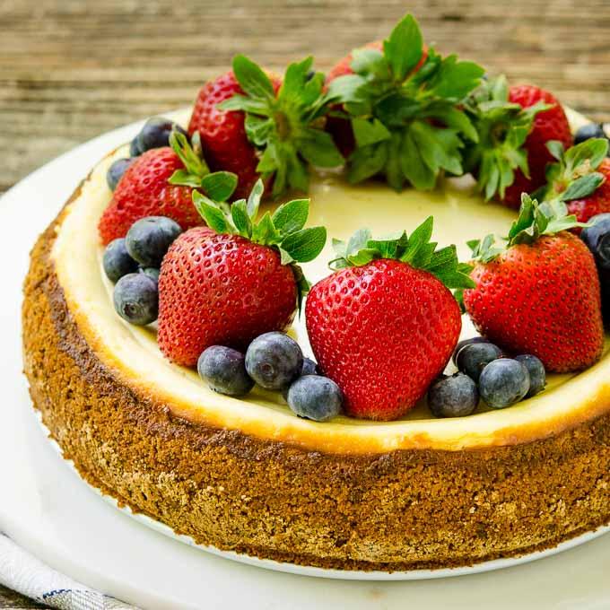 Sour Cream Cheesecake   Magnolia Days