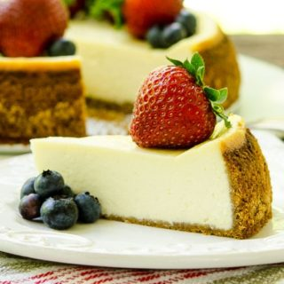 Sour Cream Cheesecake for #SundaySupper