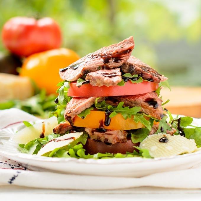 Steak and Heirloom Tomato Salad | Magnolia Days