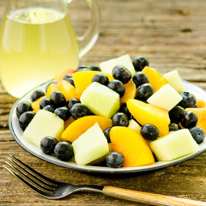 Summer Fruit Salad with Ginger-Lime Dressing   Magnolia Days