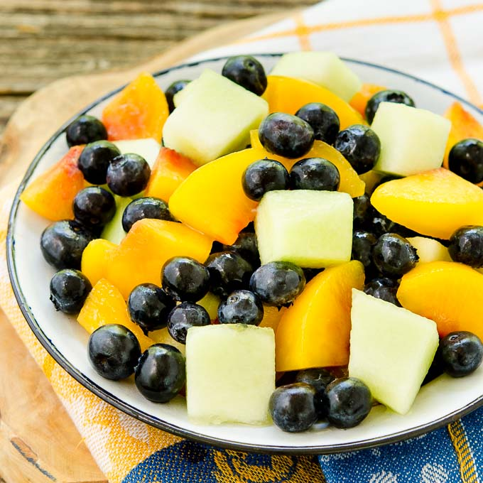 Summer Fruit Salad with Ginger-Lime Dressing | Magnolia Days