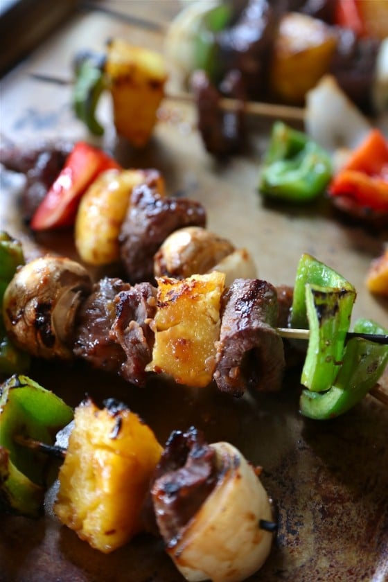 Teriyaki Beef Kabobs with Pineapple by Country Cleaver