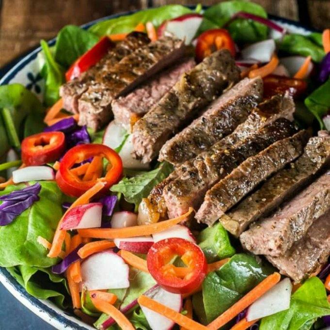 Thai Steak Salad by Flavor Mosaic