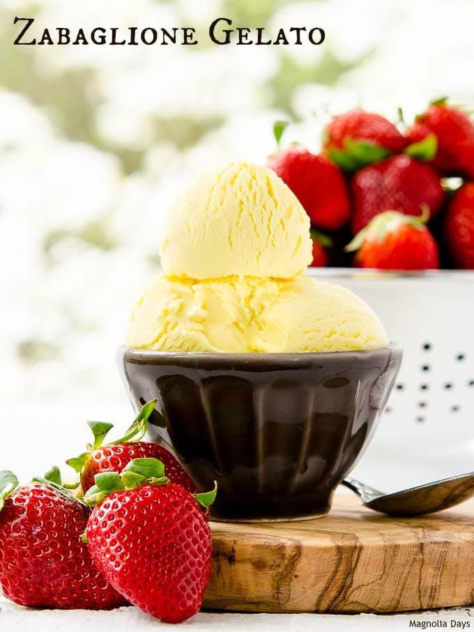 Zabaglione Gelato is a delightful frozen treat with the flavor of a popular Italian custard dessert. Serve with berries or your favorite gelato toppings.