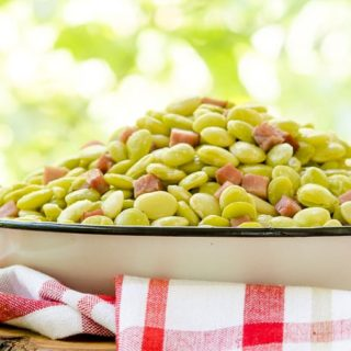 Browned Butter Lima Beans and Ham