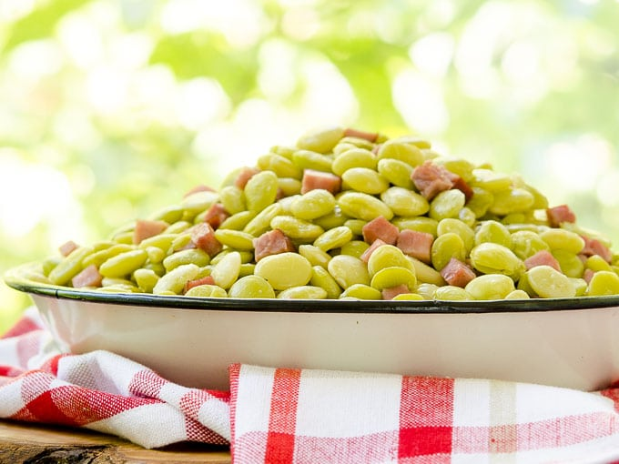Browned Butter Lima Beans and Ham by Magnolia Days