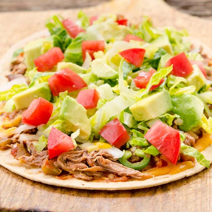Mexican Shredded Beef Flatbread by Magnolia Days