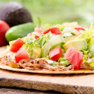 Mexican Shredded Beef Flatbread