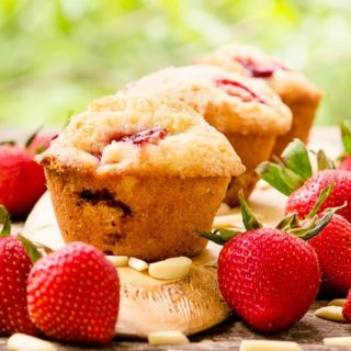 Strawberry Almond Muffins