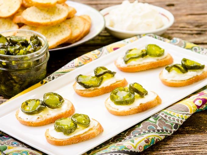 Candied Jalapeño Cream Cheese Crostini by Magnolia Days