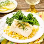 Grilled Halibut with White White Sauce by Magnolia Days