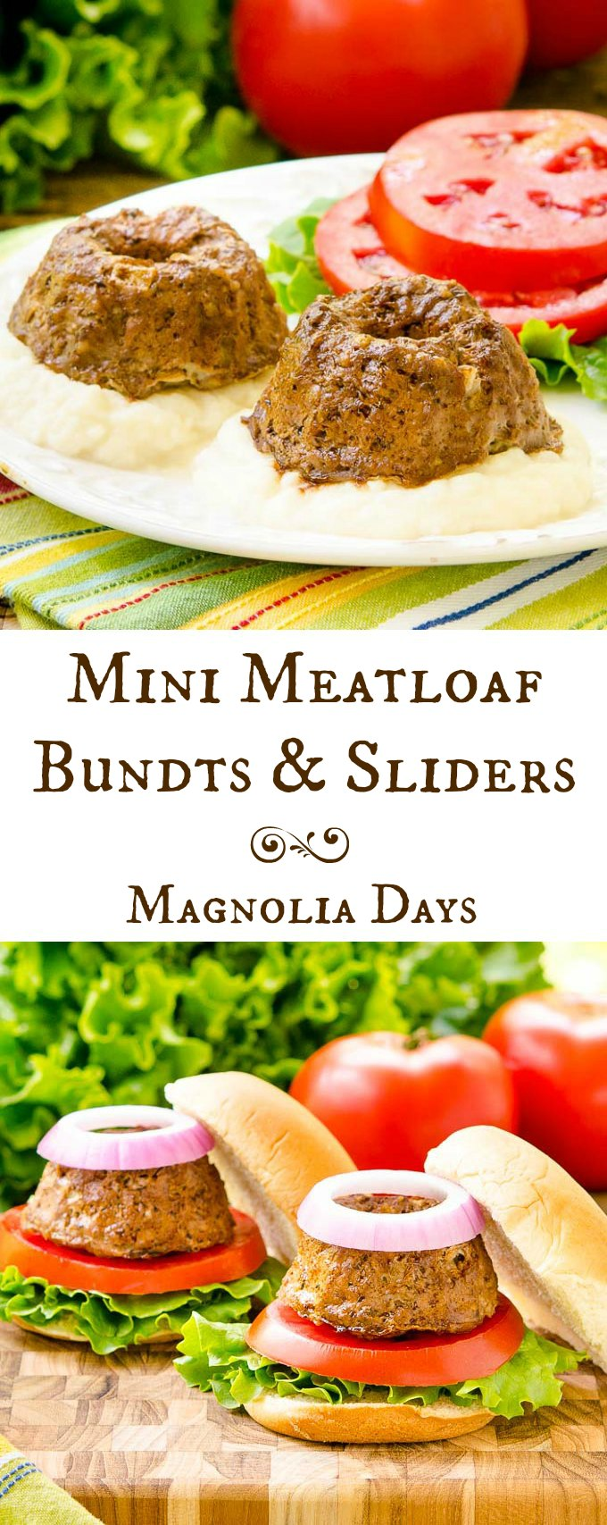 Mini Meatloaf Bundts and Sliders are a fun way to serve a classic dish. It brings new life to the old with a surprising and unique twist.