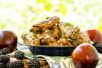 Slow Cooker Chicken Wings with Blackberry Plum Glaze by Magnolia Days