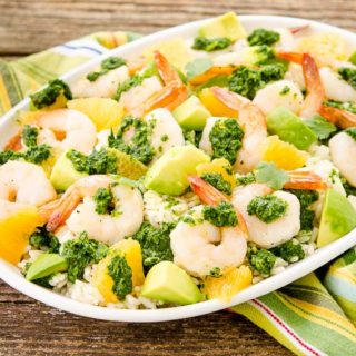 Citrus Chimichurri Shrimp Rice