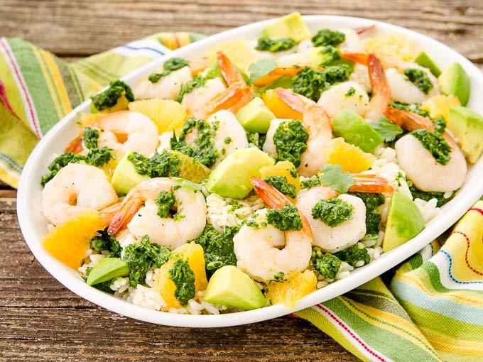 Citrus Chimichurri Shrimp Rice by Magnolia Days