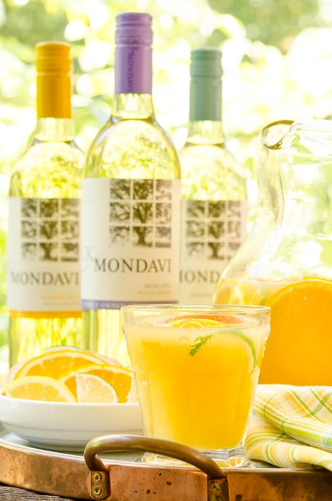 Fresh Citrus Wine Punch with CK Mondavi Wine
