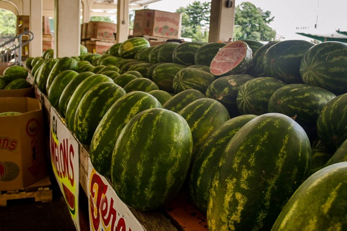 Georgia Watermelons at the State Farmers Market - Magnolia Days