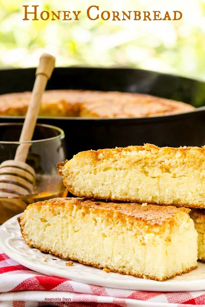 Honey Cornbread is buttery, lightly sweet, moist on the inside, and ...