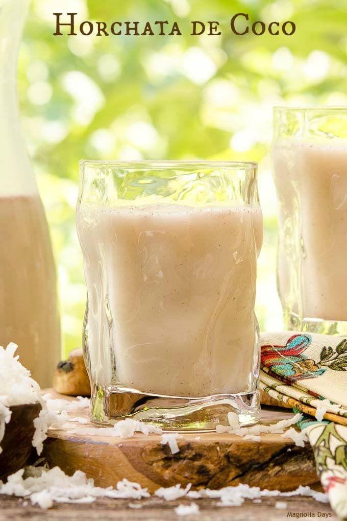 Horchata de Coco is a popular Mexican sweet coconut rice drink. It's a dairy-free, creamy, and cold beverage made with white rice, rice milk, and coconut.