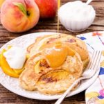 Peach Pancakes with Peach Maple Syrup by Magnolia Days