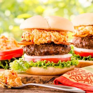 Pimento Cheese Burger for #SundaySupper