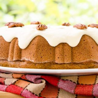 Cinnamon Pecan Applesauce Bundt Cake for #BundtBakers