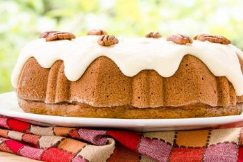 Cinnamon Pecan Applesauce Bundt Cake by Magnolia Days
