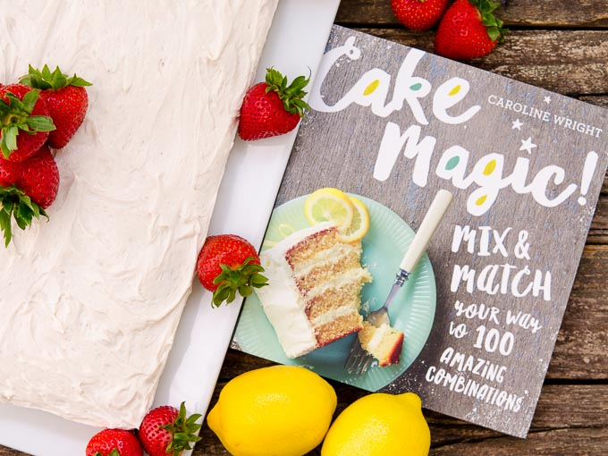 Strawberry-Lemon Cake by Magnolia Days