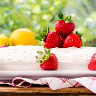 Strawberry-Lemon Cake by Magnolia Days