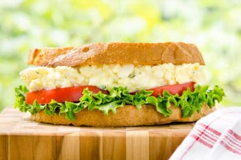 Tarragon Goat Cheese Egg Salad Sandwich by Magnolia Days