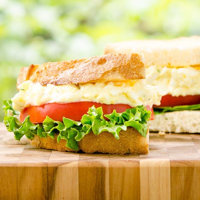 Tarragon Goat Cheese Egg Salad Sandwich by Magnolia Days