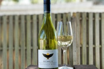 Wine Review Mohua Sauvignon Blanc 2016 bottle and glass