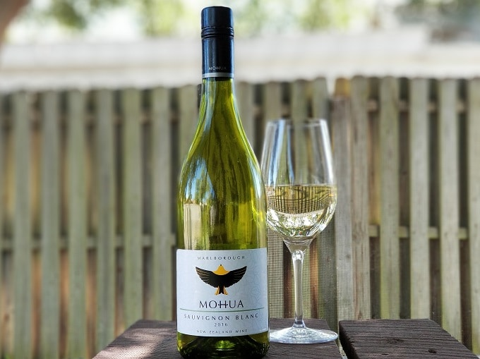 Wine Review Mohua Sauvignon Blanc 2016 bottle and glass