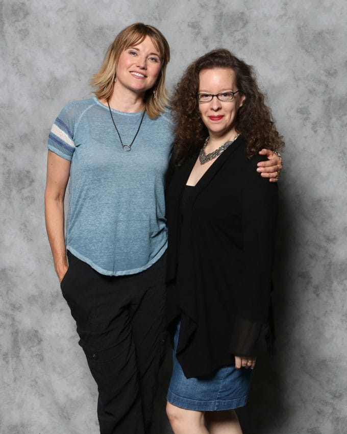 Katie Moseman and Lucy Lawless Portrait from Megacon celebrity photo op
